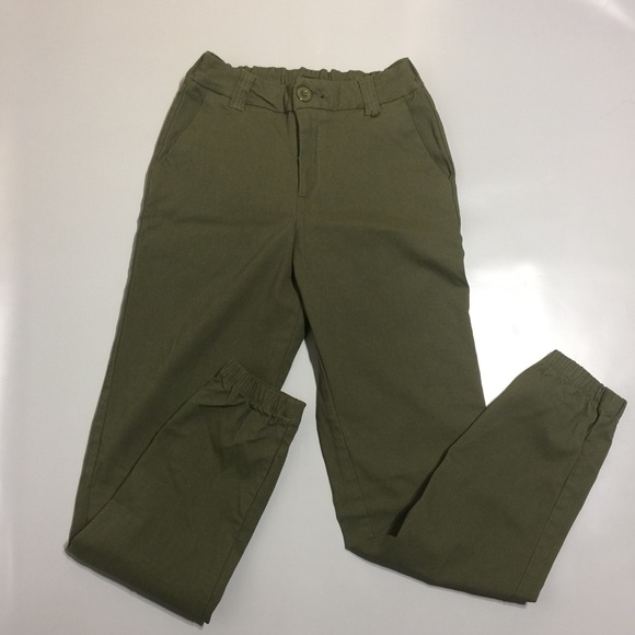 Ardene army green jogger style pants
